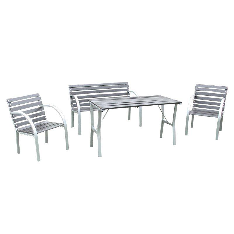 conjunto de jard n granada mesa 2 sillas gris