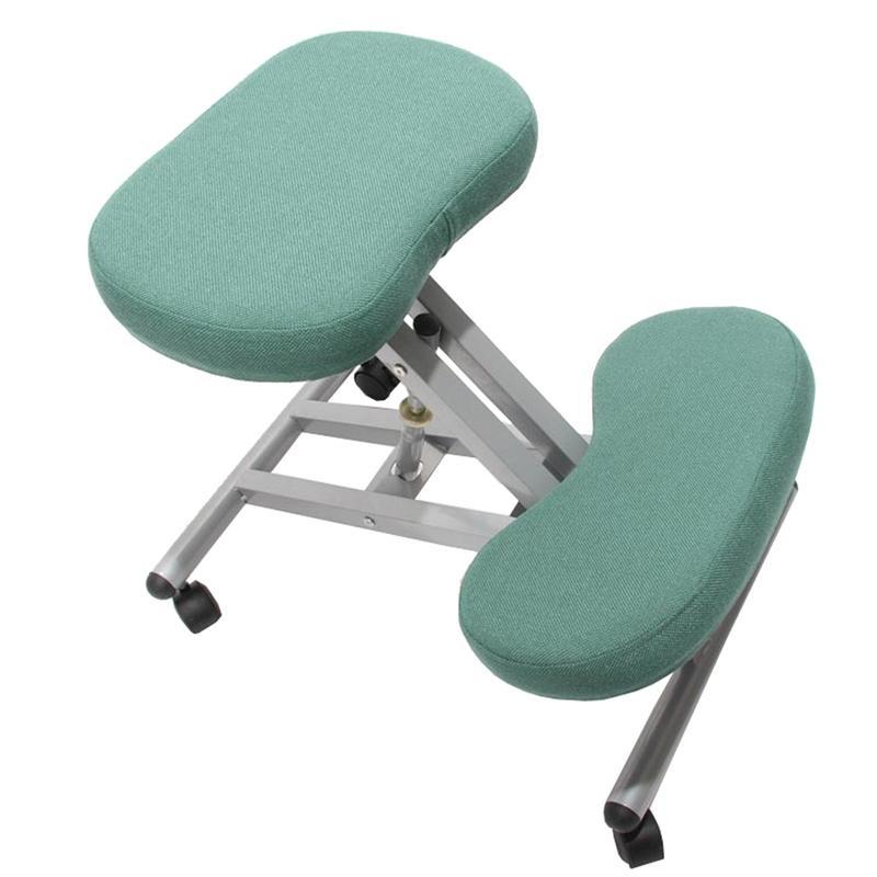Silla ergon mica presidente en tejido color verde silla for Silla ergonomica rodillas