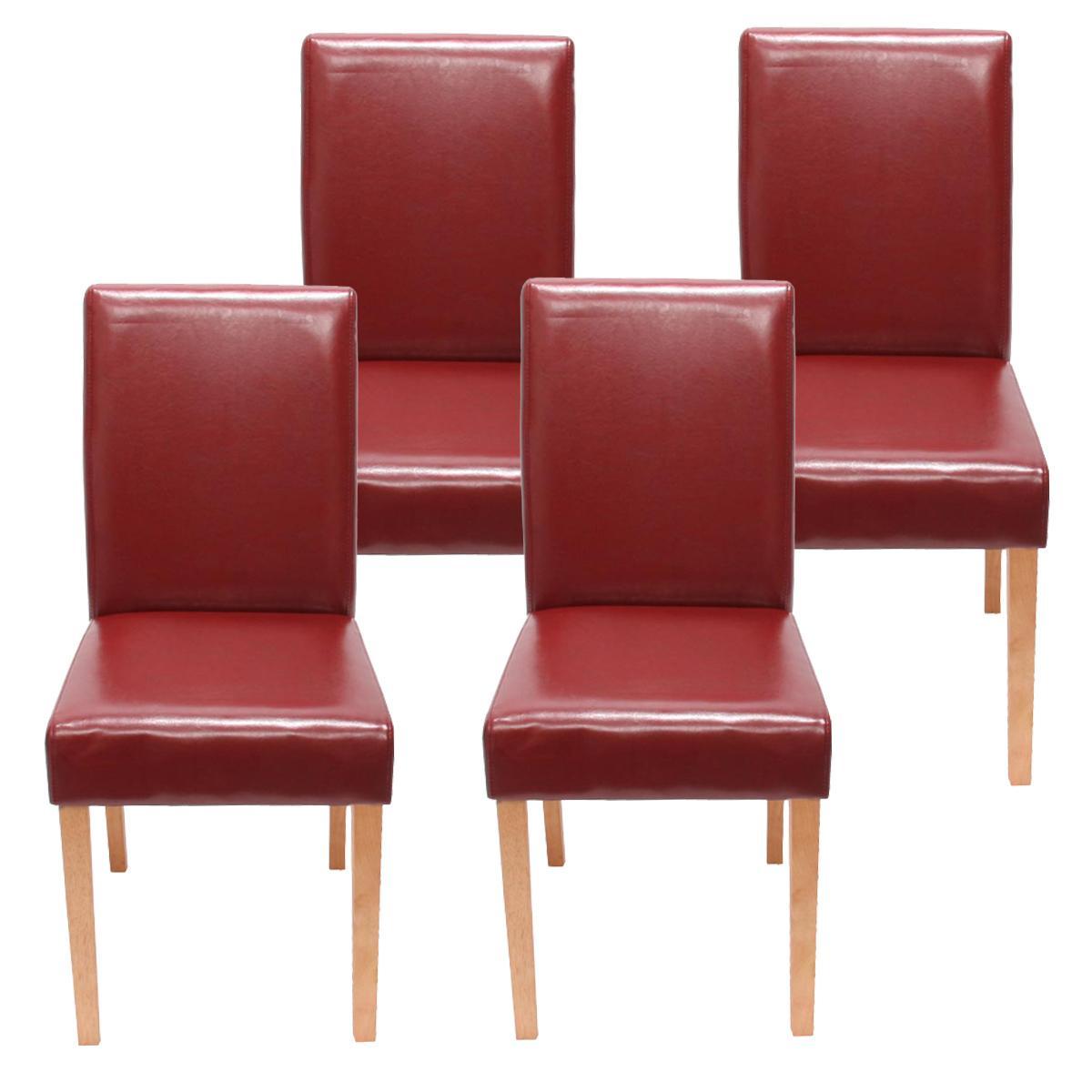 Conjunto 4 sillas de comedor litau precioso dise o piel for Sillas de piel para comedor