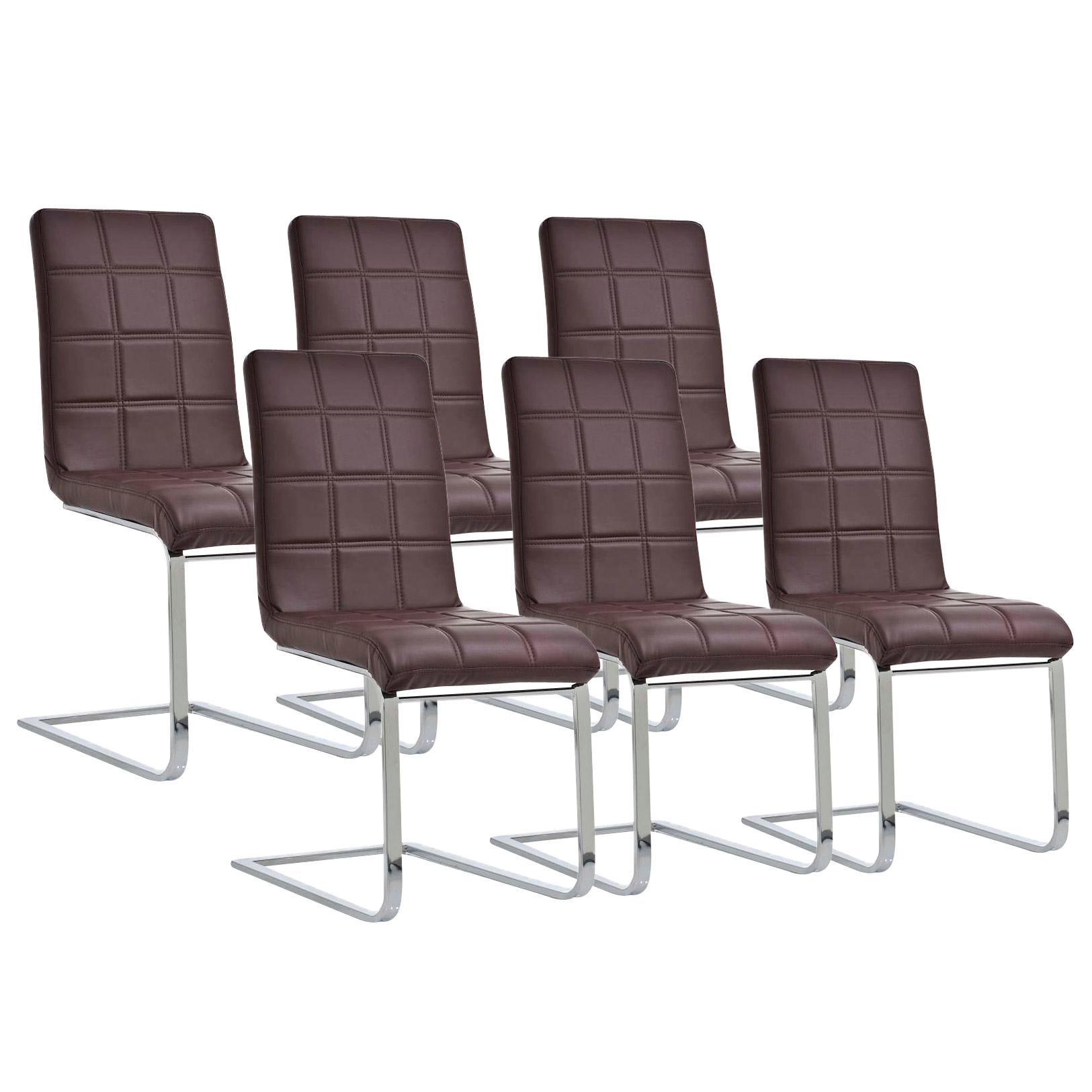 Lote 6 sillas de comedor o cocina bielsa dise o exclusivo for Sillas comedor cuero marron